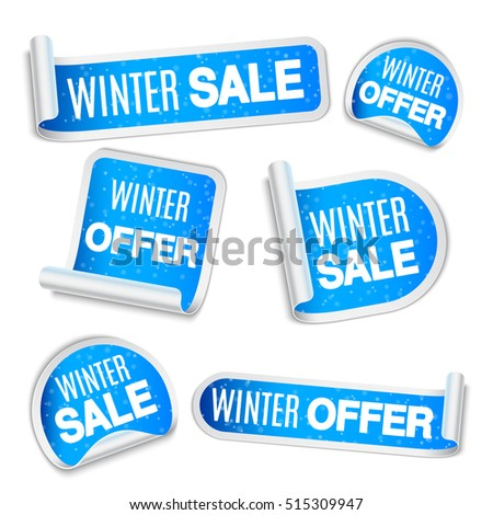 Winter Sale Labels