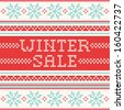 Winter Sale - northern style knitted pattern - stock vector
