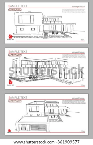 Architectural blueprints and blueprint rolls with drawing wireframe blueprint drawing of 3d building vector architectural template background architectural drawing architectural malvernweather Choice Image
