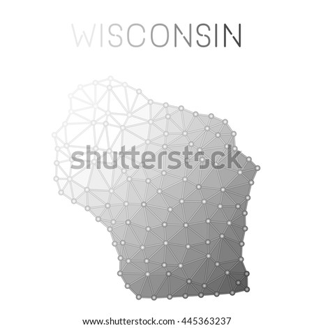 Wisconsin Mark Travel Rubber Stamp Name Stock Vector - Wisconsin on a us map