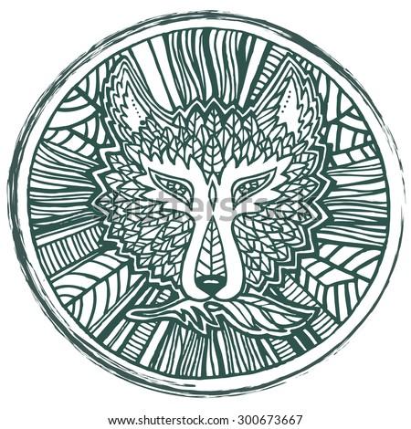 Vector Ornament Round Celtic Tree Life Stock Vector