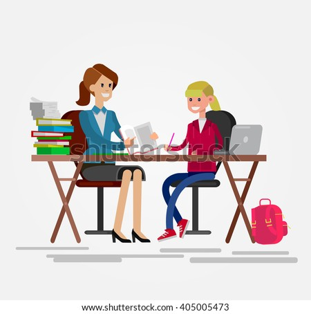 Diligent Students Doing Their Homework Together Stock Vector     YouTube