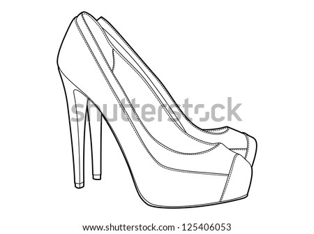womans shoe vector sketch stock vector 68474971  shutterstock