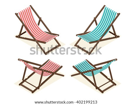 Vector wood beach rest chair relax stock vector 466812914 for Chaise longue relax