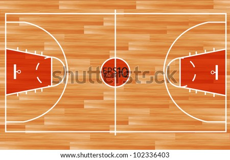 Basketball diagram plays strategy on blackboard stock vector wooden parquet floor basketball court vector illustration pronofoot35fo Choice Image