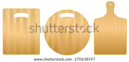 Wooden round and rectangular chopping boards