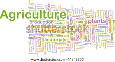 Word cloud concept illustration of agriculture farming