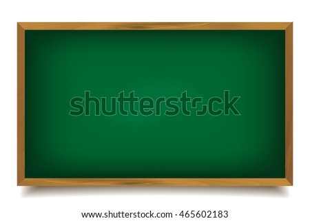 Words back to school written on a green chalkboard with chalk isolated on white background, illustration.