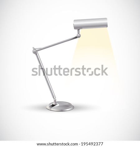 Work Lamp. realistic - vector illustration