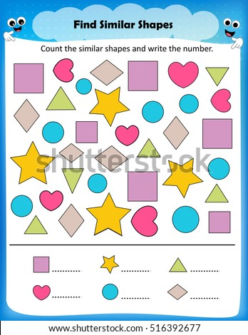 number names worksheets shapes preschool free printable worksheets for pre school children. Black Bedroom Furniture Sets. Home Design Ideas
