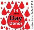 World blood donor day-June 14. vector illustration - stock photo