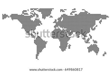 Dotted world map vector illustration stock vector 541840921 world map gumiabroncs Images