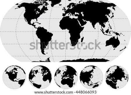 World map globe vector line sketch vectores en stock 794028106 world map and globe detail vector illustration eps 10 gumiabroncs Choice Image