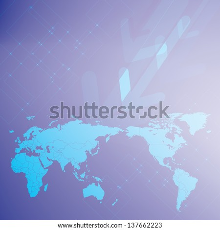 world map arrows blue background for business