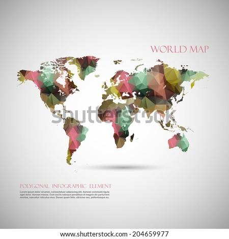 Travel around world background abstract map vectores en stock world map background in polygonal style vector background gumiabroncs Choice Image