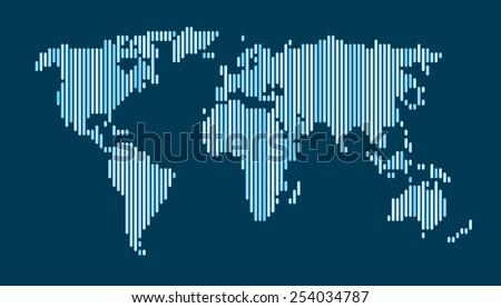 World map black vertical lines pattern vectores en stock 254034775 world map blue vertical lines pattern eps 10 gumiabroncs Images