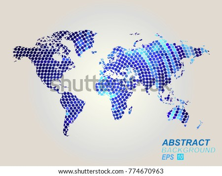 World map dots all elements separated vectores en stock 773170879 world map dots all elements are separated abstract linear polygonal white background vector illustration gumiabroncs Choice Image