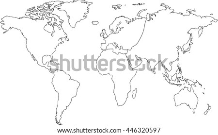 World map centered on united states ilustracin en stock 406453273 world map europe asia north america south america africa australia gumiabroncs Gallery