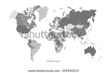 Africa map greyscale illustration vector vectores en stock 340595525 world map grey scale illustration vector gumiabroncs Gallery