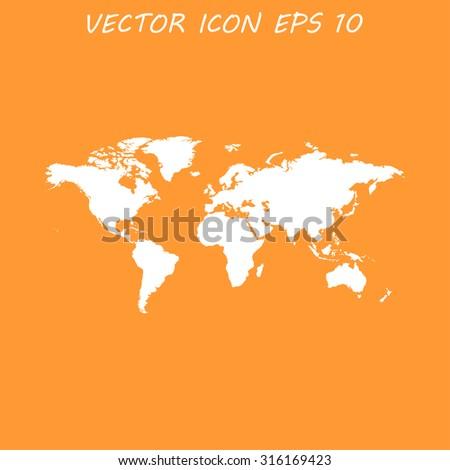 World map illustration flat design style stock vector 309858485 world map illustration flat design style eps 10 gumiabroncs Choice Image