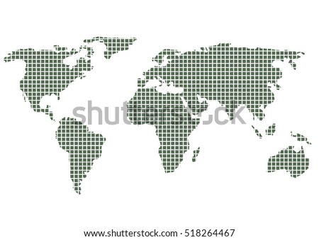 Africa world map graphic vector vectores en stock 707995429 world map in square pixel dot graphic pattern art design vector gumiabroncs Image collections