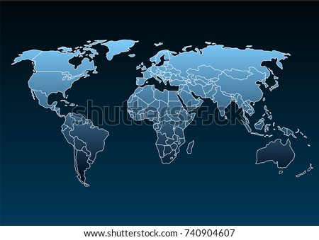 World map country borders thin black vectores en stock 740904571 world map isolated on white background best popular world map vector blank blue similar world gumiabroncs Gallery