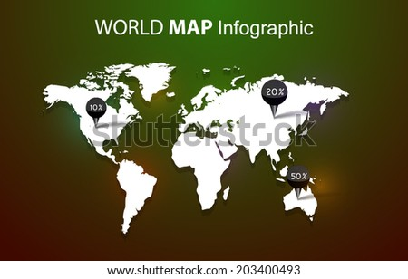 Old film movie countdown frame old vectores en stock 713537764 world map on dark background gumiabroncs Choice Image