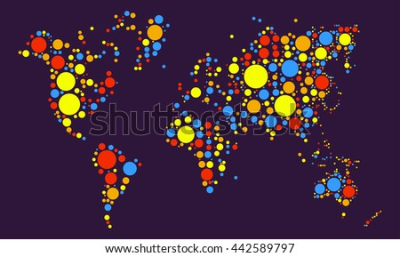 White world map people people connection stock vector 241627822 world map shape vector design by color point gumiabroncs Images