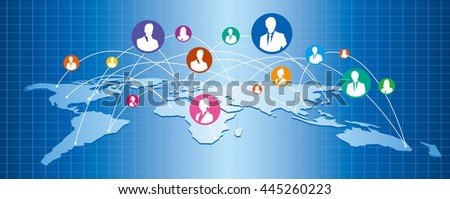 World map social networking service vector stock vector 445259542 world map social networking service vector gumiabroncs Gallery