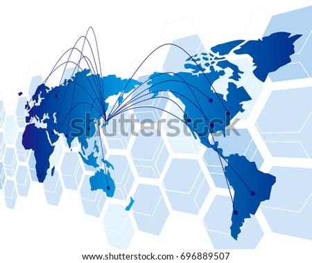Globe Closeup On Usa Canada 3d Stock Illustration 244976590