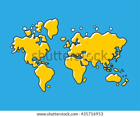 Yellow bus front view isolated vectores en stock 460096519 world map vector illustration gumiabroncs Gallery