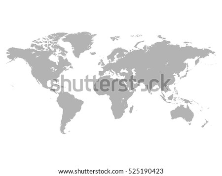 Grey political world map white background vectores en stock world map vector illustration isolated on white background gumiabroncs Images