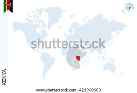 Kenya Map Flag Circle Map Kenya Stock Vector 371359843 Shutterstock