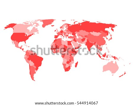 Arab world states political map higlighted stock vector 626099642 world map with names of sovereign countries and larger dependent territories simplified vector map in publicscrutiny Choice Image