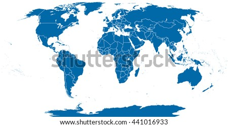 West central africa countries political map vectores en stock world political map outline detailed map of the world with shorelines and national borders under gumiabroncs Choice Image