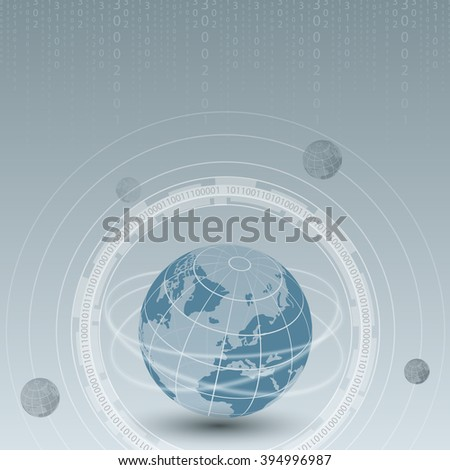world technology background beautiful vector illustration