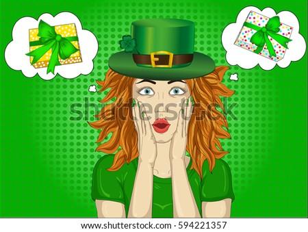 Happy St Patrickes Day Background Irish Stock Vector
