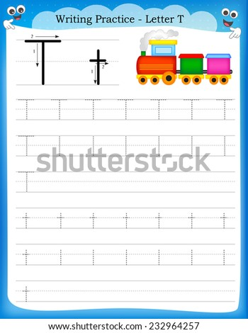 Writing Practice Letter K Printable Worksheet Stock Vector ...