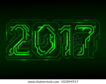 Year 2017 made from PCB numbers