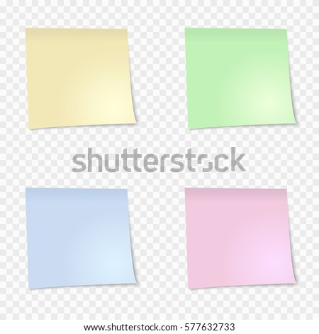 Set Pink Sticky Note Isolated On Stock Vector 571095799 - Shutterstock