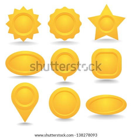 Yellow button set