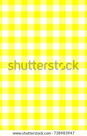 Yellow Gingham Pattern. Texture From Rhombus/squares For   Plaid,  Tablecloths, Clothes