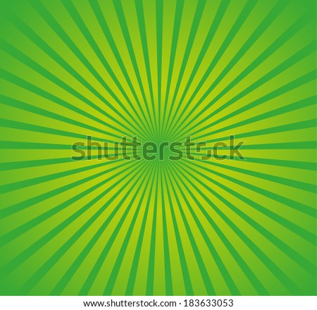 Yellow-green background with rays