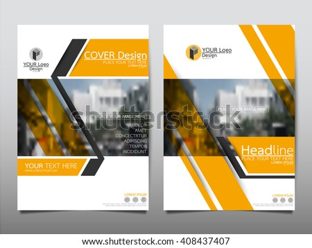 Yellow Annual Report Brochure Flyer Design Stock Vector