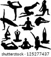 yoga collection - vector - stock photo