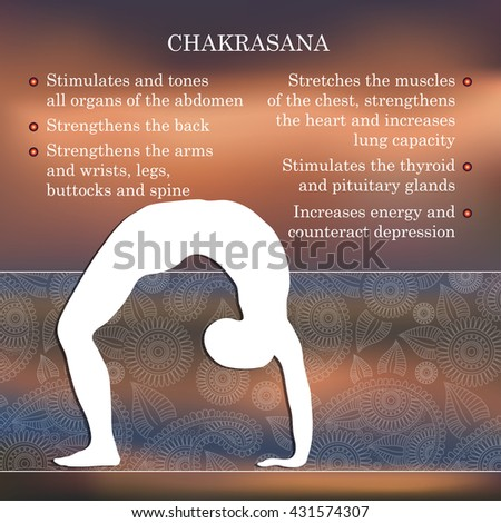 yoga infographics mental physical benefits practice stock