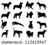 Yoga silhouettes-vector - stock vector