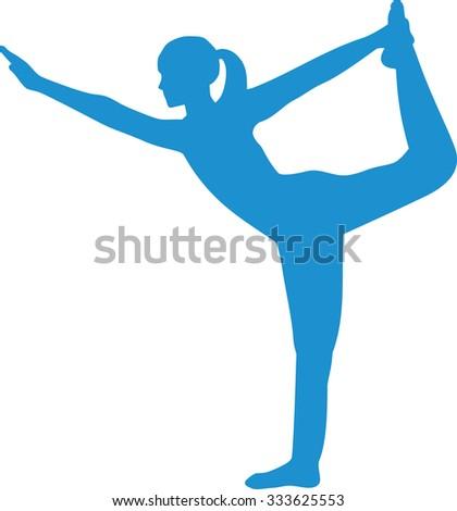 yoga word pose stock vector 354623138  shutterstock