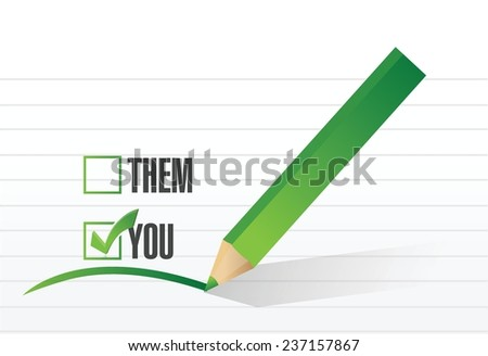 you check list selection illustration design over a white background
