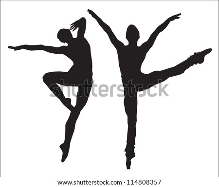 young girls and man (silhouette figure jump)